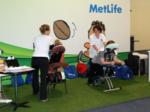 seated massage at a conference