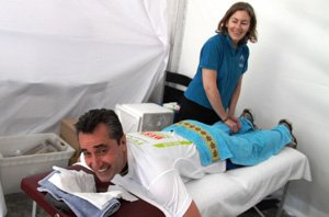 massage after city to surf run