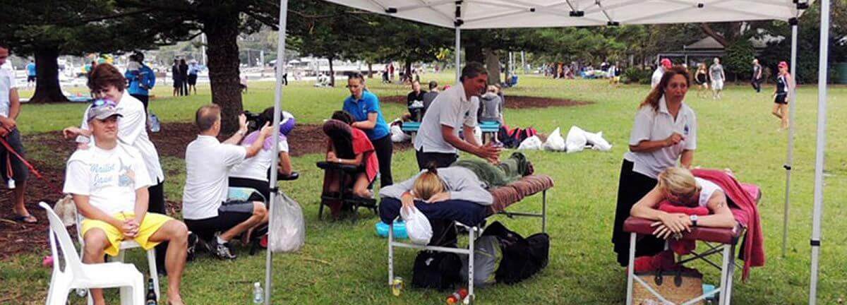 outdoor event massage