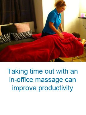 corporate office massage can improve productivity