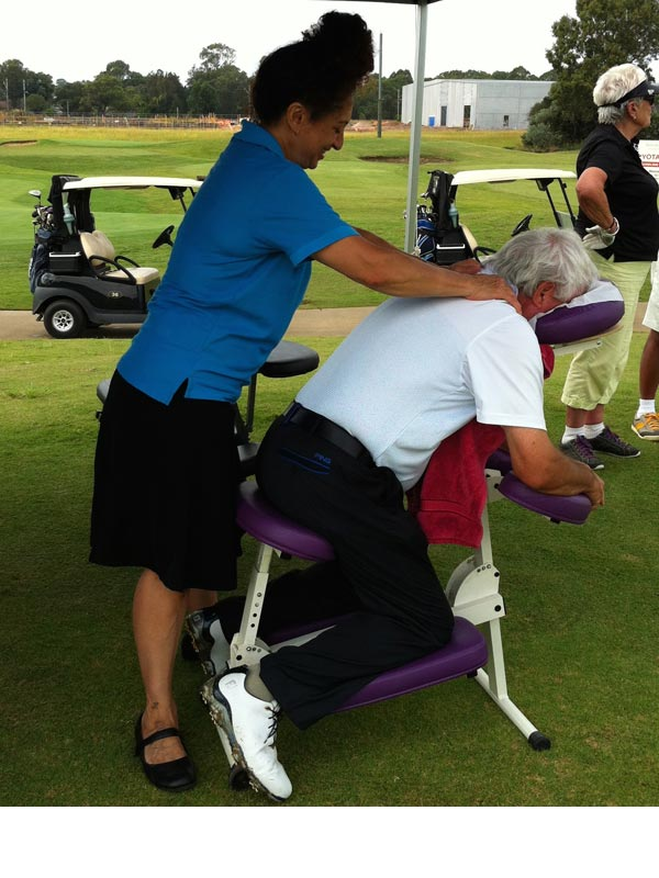 massage at corporate golf day