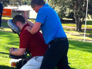 relieving muscle fatigue from golfing