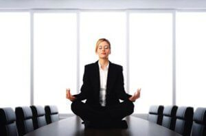 practice meditation in the office