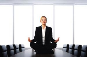 practice mindfulness meditation in the office