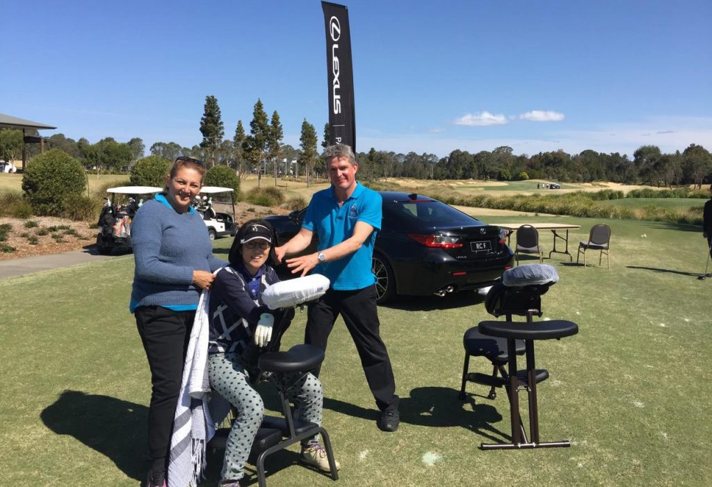 Corporate Golf Day Massage